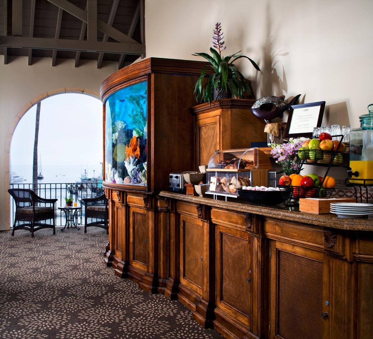 Hotel Vista Del Mar Breakfast Setup